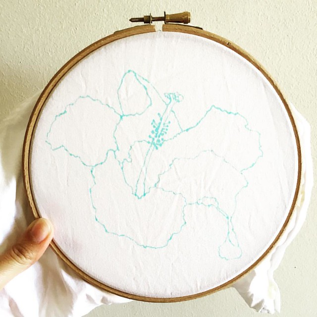 Ready to start a new design for the #airembroideryclub's June project. Join now or learn to embroider on my website http://www.airdesignstudio.com