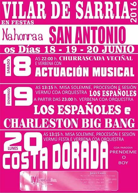 Sarria 2016 - Festas de Santo Antón en Vilar de Sarria - cartel