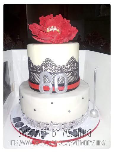 Jhing Garcia of Sweetmeat b Ms. Jhing 60th Birthday Cake