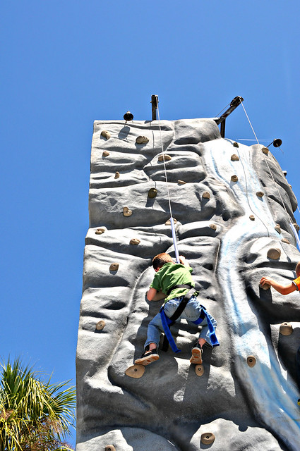 Jett on Rock Climbing Wall
