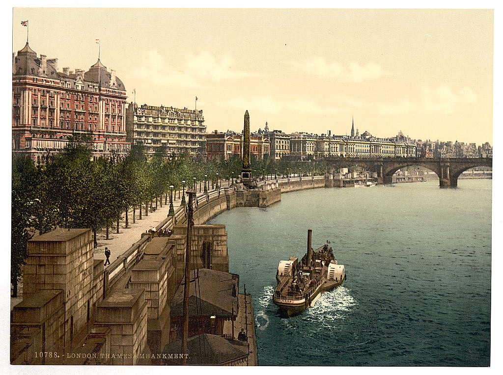 [Thames embankment, London, England] (LOC)