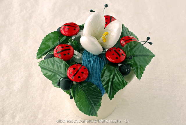 Cute flower made with chocolates