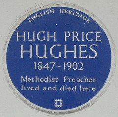 Photo of Hugh Price Hughes blue plaque