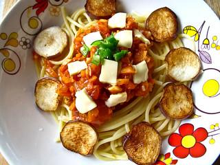 IMG_1094 Fried aubergine spaghetti