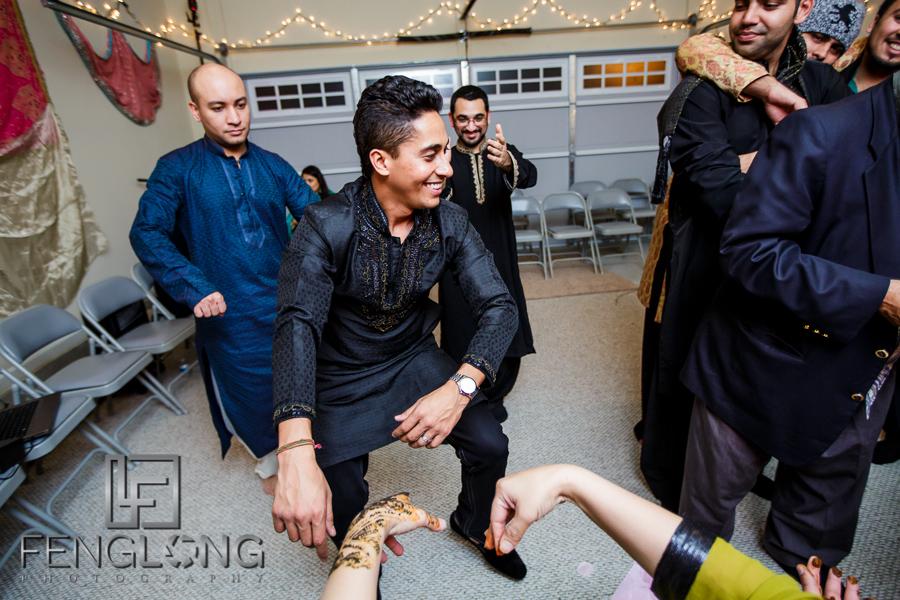 Guests dancing at Ismaili mehdni night