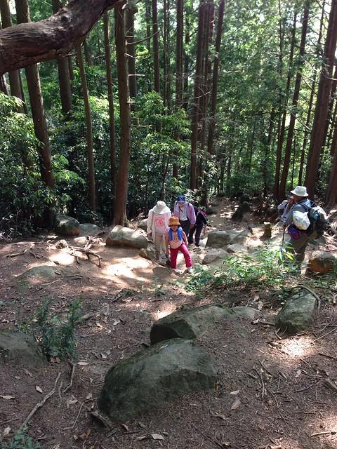 筑波山でトレッキング