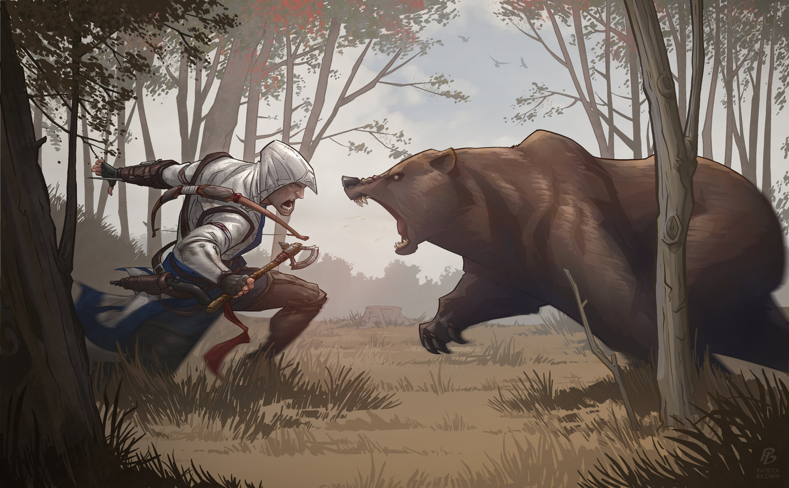 'Assassin's Creed 3 Bear Attack' - Patrick Brown
