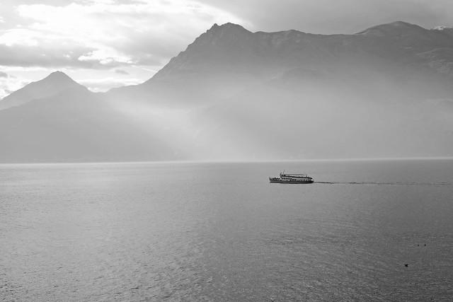 a ferry, Lake Como