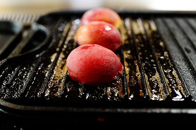 Grilled Peaches and Pecans