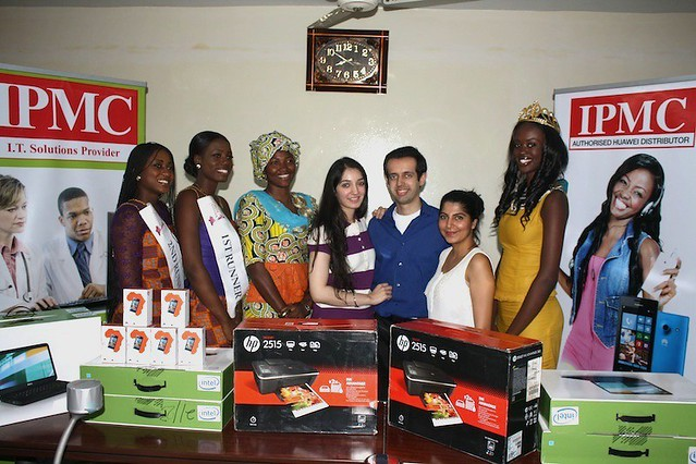 Miss Ghana 2013 finalists receive prizes from IPMC