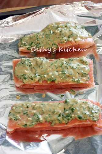 檬香芥末烤鮭魚 Baked Salmon with Lemon and Mustard  9