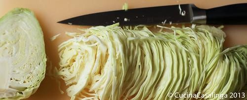Krautsalat schneiden