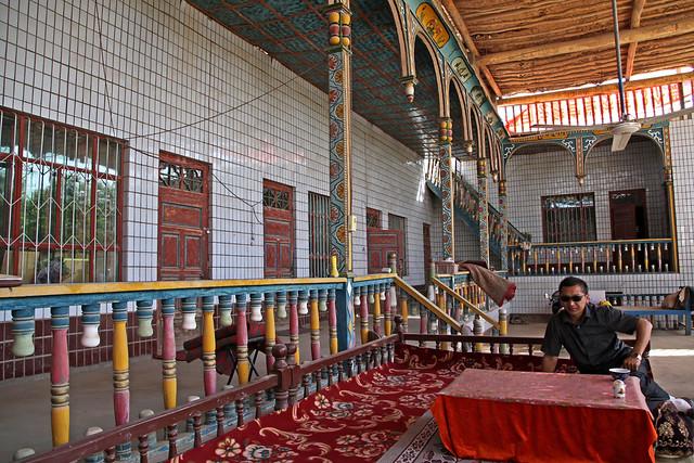 Courtyard of an Uyghur local house Shanshan (Piqan) County ルクチュン、民家の中庭