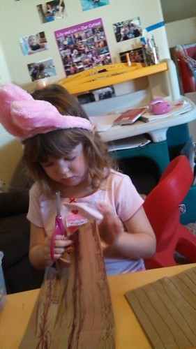 Bunny Lily making a jelly fish