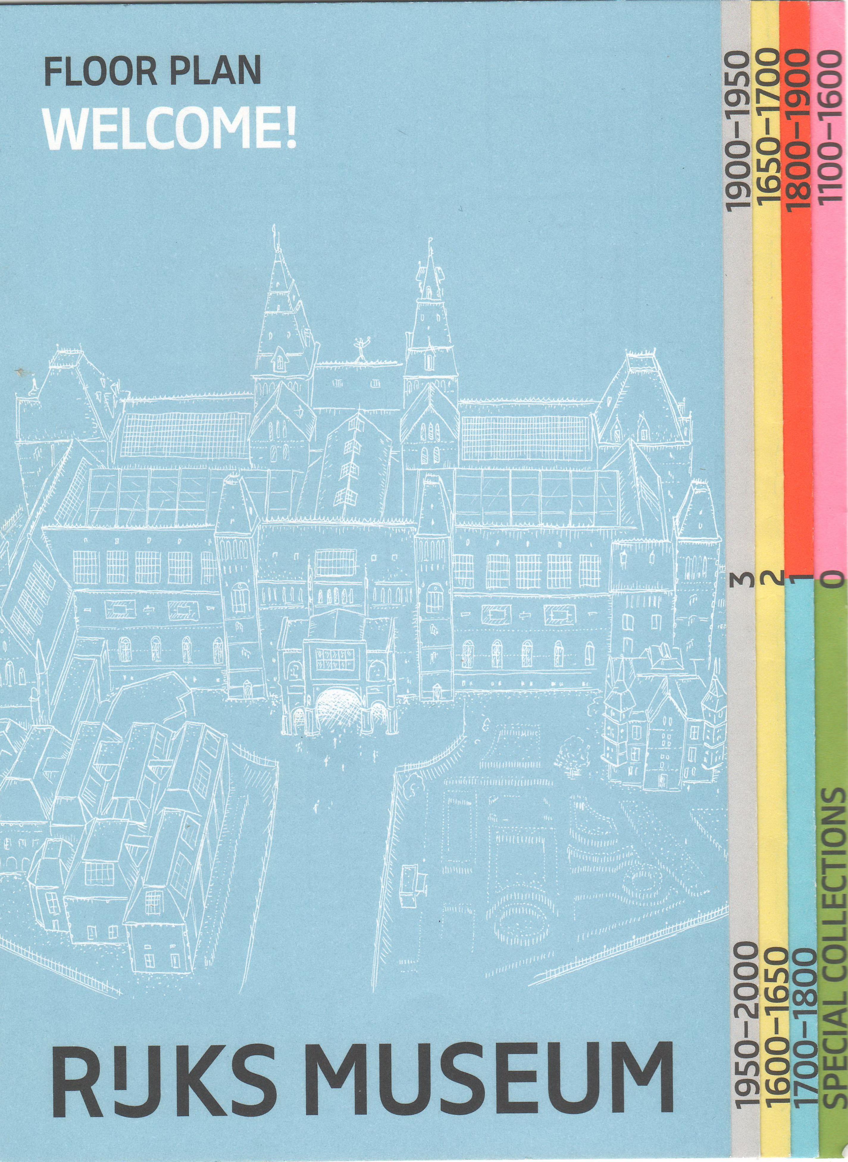 amsterdam rijksmuseum floor plan brochure scan flickr
