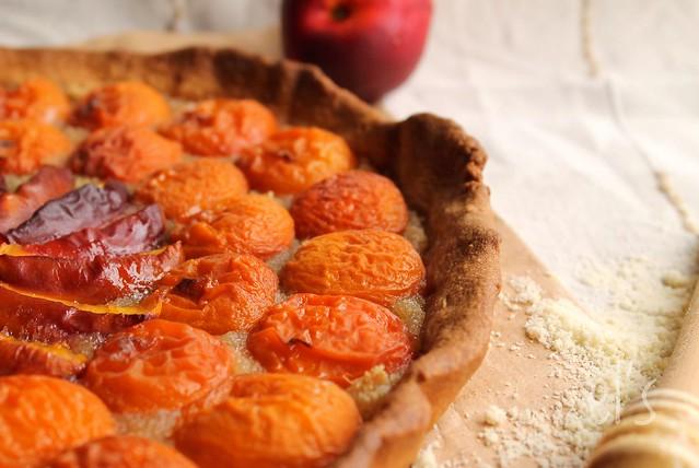 Tarte aux abricots et pêches