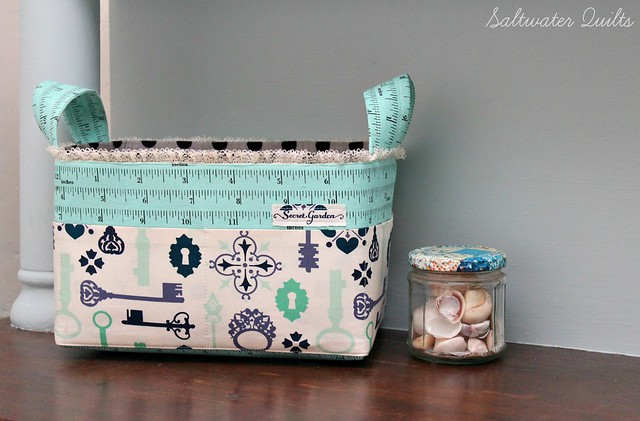Fabric Basket with lace