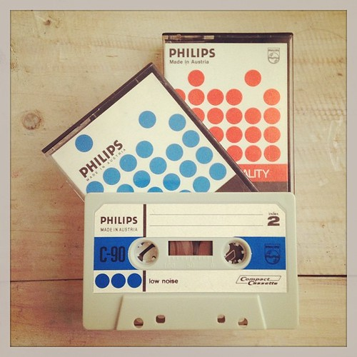 The early generation audio cassette by Philips 50 years ago. Happy birthday, audio cassette. #neoretrogizmo