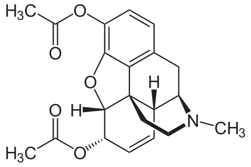 heroin diacetylmorphine chemical structure