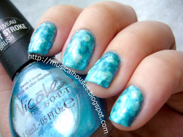 Pond Manicure Nicole OPI Somebody Teal Love 1
