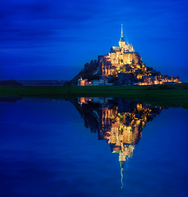 Mont Saint-Michel Reflection
