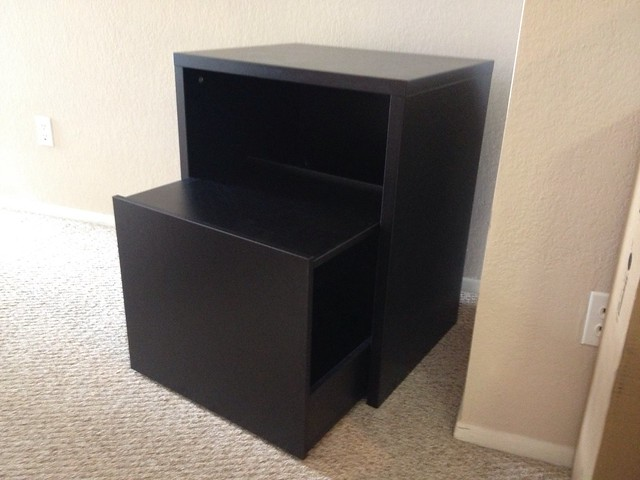 office furniture assembly assembling an ikea micke printer stand with pullout file storage. Black Bedroom Furniture Sets. Home Design Ideas