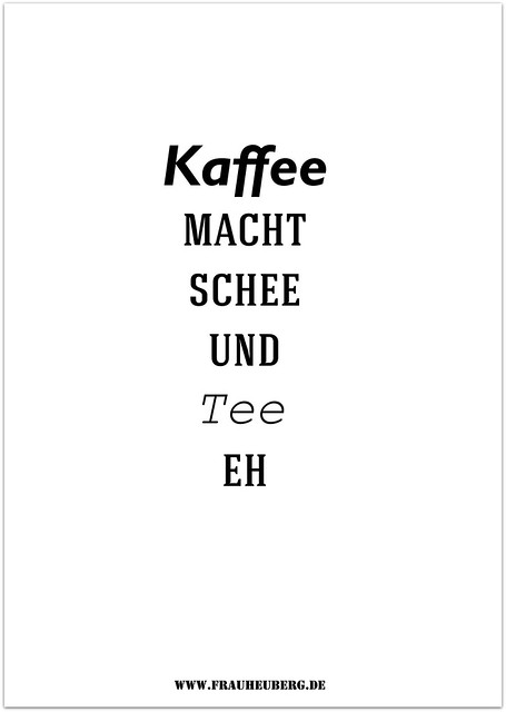 Kaffee macht schee