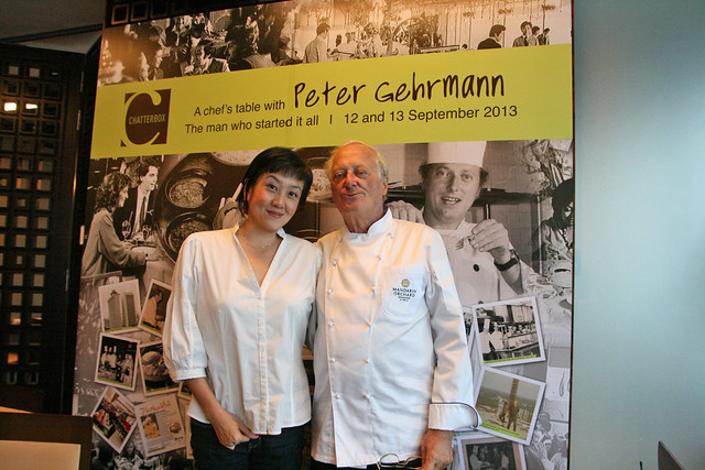 With Peter Gehrmann, the first Executive Chef of Mandarin Hotel Singapore when it opened in 1971