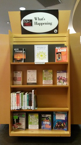 Brighouse Library, Richmond ADHD Awareness Week book display photo #1