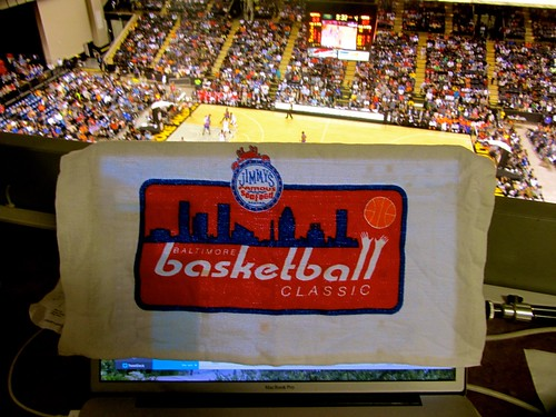 Washington, wizards, new york knicks, Baltimore, Baltimore arena, nba, preseason,  Baltimore classic, bullets, truth about it, adam mcginnis, laptop, macbook, towel, media