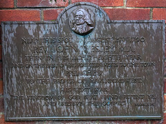 Photo of John Wesley bronze plaque