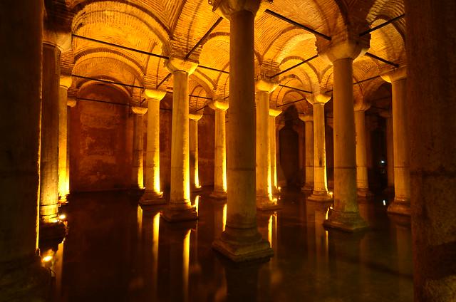 Cisternas de Yerebatán en Estambul