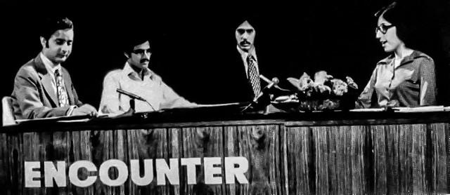 Benazir Bhutto compering a PTV program 'Encounter'