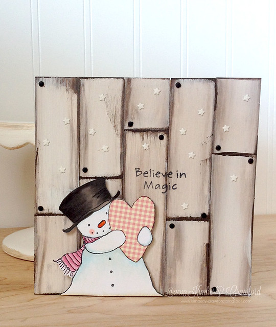 MFT Happy Heart Snowman wall hanging by Kimberly Crawford