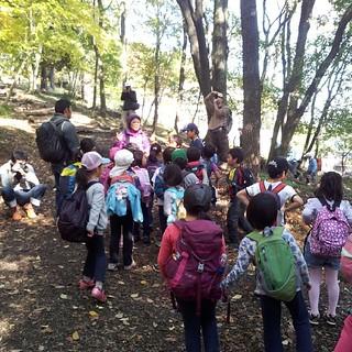 息子が卒園した幼稚園の先生と山登り。