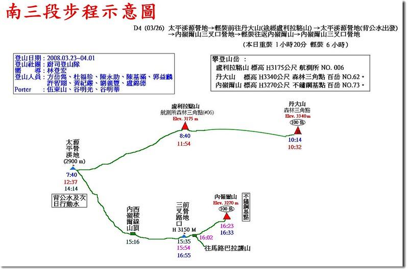南三段步程示意圖(4)