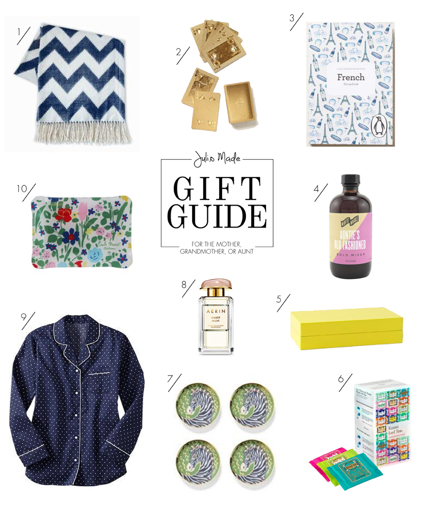Julip Made 2013 holiday gift guide mother grandmother aunt