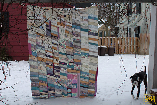 Ron the Half Chevron Quilt Top - backside of patchwork