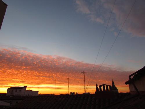 madrid skyline clouds sunrise dawn alba amanecer aurora nubes