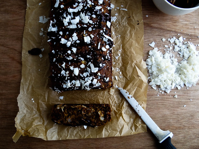 coconut chocolate chip banana bread {gf}