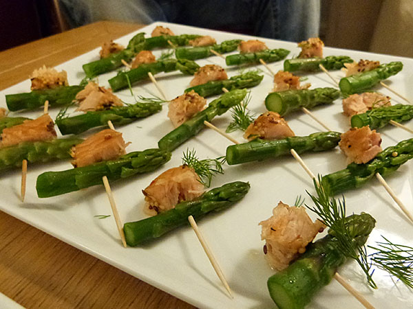 saumon et asperges