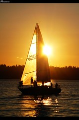 Sailboat Sunset at Carillon Point