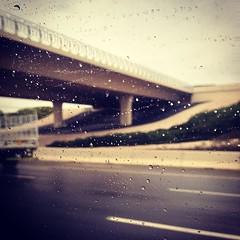West coast weather in Abu Dhabi. Feels like home.  #abudhabi #uae #rain #saadiyat #highway #urban #winter