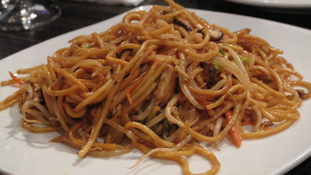 kaya wok fried egg-noodles with shiitake & siuchoy - Kaya & Haywire