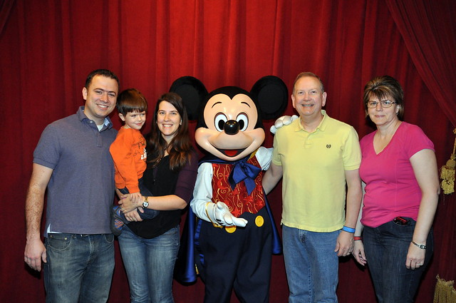 The whole family with Mickey Mouse