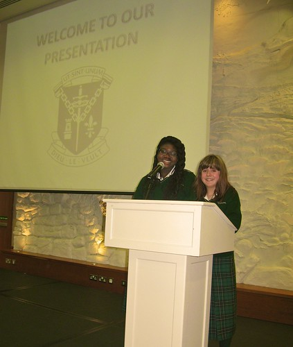 Students from St Louis Secondary School Dundalk presenting their Water Project at the Annual St Louis Schools Africa Day