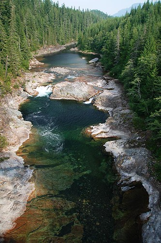 Nimpkish River in Woss, Northern Vancouver Island, British Columbia, Canada