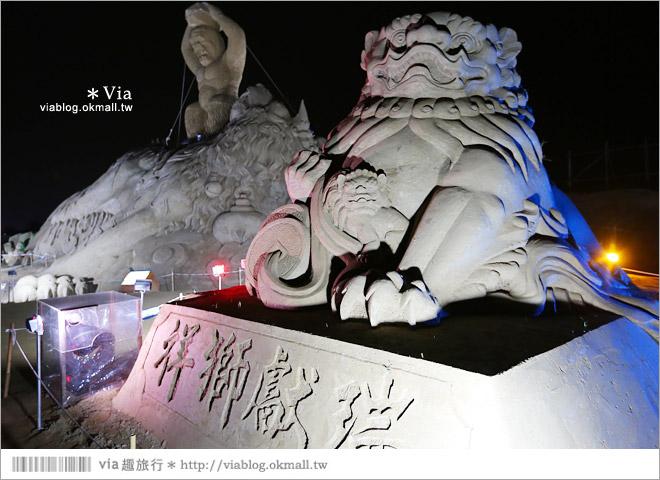 【2014台灣燈會在南投】南投沙雕燈會~夜間點燈好浪漫!還有精彩光雕秀19