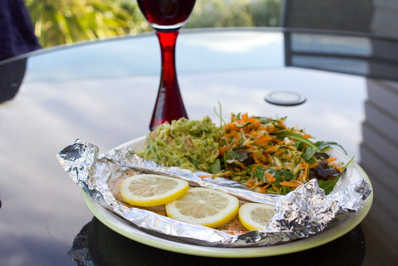 Wednesday, December 18: Dinner on the deck, another perk of housesitting.