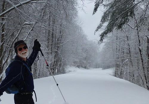 skiing on Blue Ridge Parkway